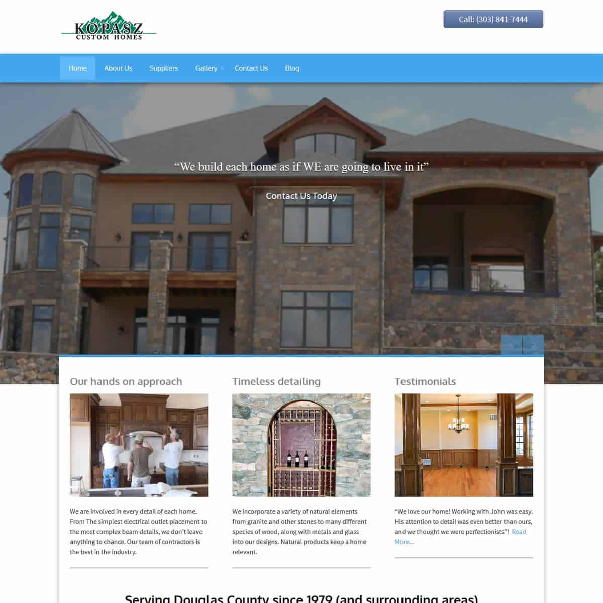 Kopasz custom homes online marketing media for Custom home online